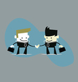 Businessmen handshake vector