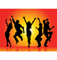 Party silhouettes vector