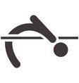 High jump icon vector