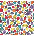 Seamless pattern with different fruits vector