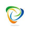 Abstract swirl circle logo vector