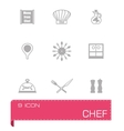 Chef icon set vector