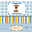 Greeting card with small dog vector