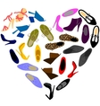 Shoes in shape of heart vector