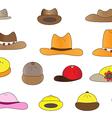 Variety cartoon hats vector