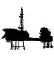Offshore oil platform vector