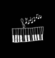 Music icon piano and musical notes vector
