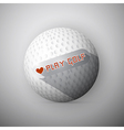 Golf ball abstract background i love golf vector