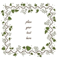 Leaves frame greeting card concept vector