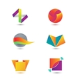 Set of abstract geometric colorful icons vector