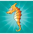 Funny cartoon seahorse vector