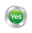 Yes button accept green round sticker vector