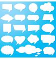 Empty speech bubbles paper vector