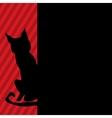 Modern black cat vector