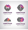Set of abstract icons logos vector