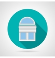 Flat icon for arch window with blinds vector