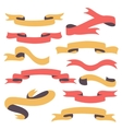 Set of vintage ribbons vector
