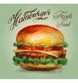 Hamburger burger logo design template vector