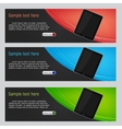 Website headers tablet promotion banners vector