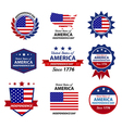 4th happy independence day badge and label vector
