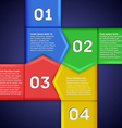 Infographics with square of numbered pointers vector