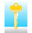 Golden house door key vector