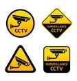 Video surveillance set stickers vector