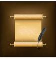 Vintage jewish scroll vector