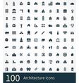 100 architecture icon vector