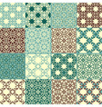 Set of four seamless patterns vector