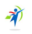 Business man success office logo vector