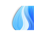 Folder template - blue waves background vector