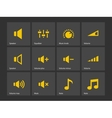Speaker icons volume control vector