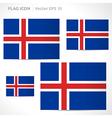 Iceland flag template vector