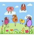 Nice set of cartoon sheep vector
