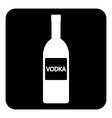 Vodka bottle symbol button vector