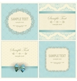 Invitation cards with pattern vector