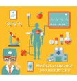 Medical assistance and health care concept vector