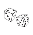 White dice vector