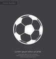 Football ball premium icon white on dark backgroun vector
