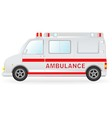 Ambulance car silhouette on white background vector