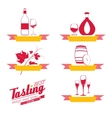 Labels set of drinks for restaurant and cafe vector