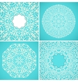 Set of 4 round kaleidoscopic lace ornamental vector