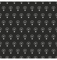 Seamless dark pattern white light bulbs on black vector