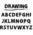 Drawing sketch alphabet handwritten font vector