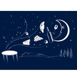 Dinner in the moonlight vector