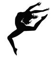 Girl in motion vector