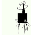 Beautiful abstract floral background a tree vector