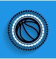 Basketball ball icon flat icon vector