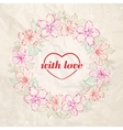 Floral wreath - valentine design vector